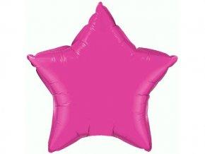 Fóliová hviezda ružová 47cm