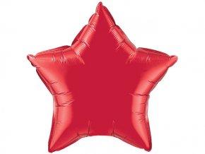 Fóliový balón Hviezda červená 47cm