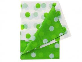 Obrus zeleno biely s bodkami 1,28x1,81m 1ks v balení