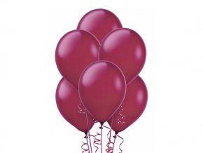 """Metalický balón 12"""" burgundy 6ks v balení"""