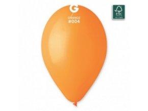 """Metalický balón 12"""" oranžový 6ks v balení"""