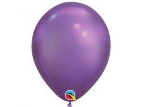 11 inch es chrome purple lila kerek lufi q58274