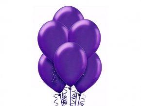 """Metalický balón 12"""" fialový 6ks v balení"""
