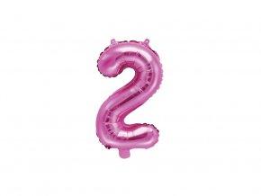 eng pl Mini Shape Number 2 Pink Foil Balloon 35 cm 1 pc 34062 1