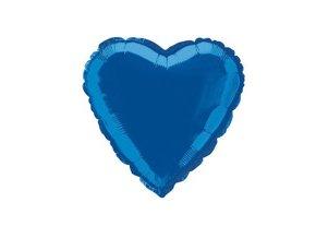 Fóliový balón Srdce modré 47cm