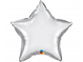 balon foliowy 20 cali ql str chrom srebrny