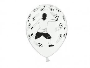 eng pl Balloon 14 Pastel White Footballer and balls 5 pc 1369 2