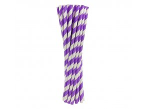 Slamky fialove pasy 24ks v balení