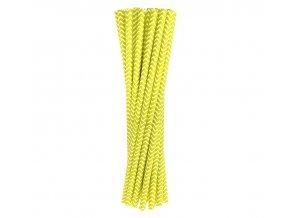 Slamky žlté pásy 24ks v balení