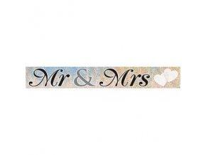 Banner na svadbu Mr and Mrs