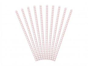 eng pl Paper Straws white with pink caro sign 19 5 cm 10 pcs 30885 2 (1)