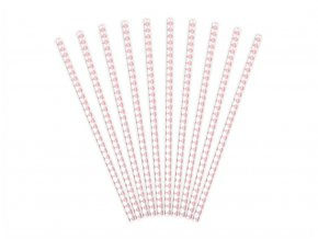 eng pl Paper Straws white with pink caro sign 19 5 cm 10 pcs 30885 2 (1)