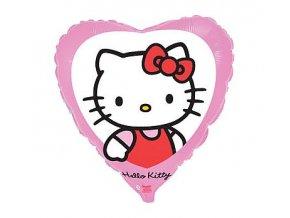 Fóliový balón srdce Hello Kitty 46cm