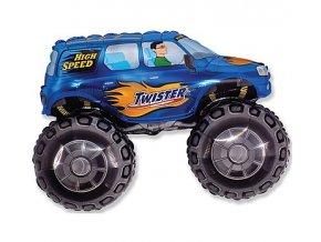 Fóliový balón modrý Twister Monster Truck 61cm