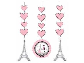 Visiaca dekorácia Paris party 3ks v balení
