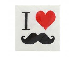 Servitky Movember party 33x33cm 20ks v balení