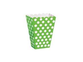 Krabičky na popcorn zelené 8ks v balení
