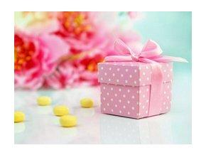 Krabička na drobnosti ružová 10ks v balení