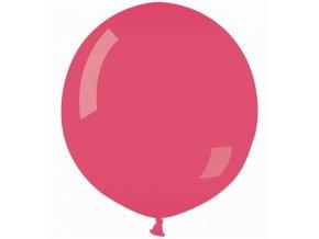Jumbo latexový balón Cyklamenovo  metalický 85cm