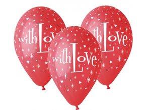 Latexový balón With Love 5ks v balení