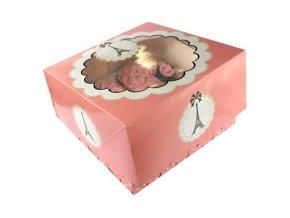 Box na cupcake Paris party 2ks v balení