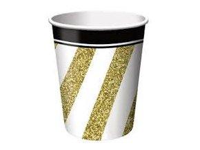Pohár Black&gold party 8ks v balení 250ml