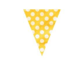 Vlajková girlanda DOTS žltá 3,65m