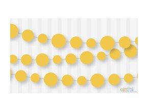 Banner-girlanda papierová žltá 2,7m