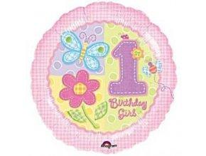 Fóliový balón Hugs&Stitches 1st Birthday 47cm