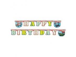 Banner-girlanda Happy Birthday Lietadlá 1,9m