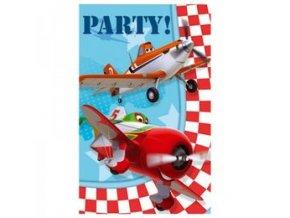 Pozvánky Lietadlá 6ks v balení
