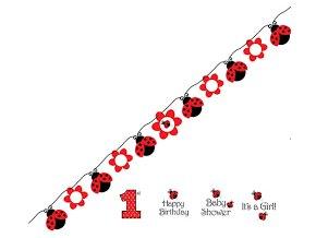 Banner-girlanda Lienka Happy Birthday 1,67m