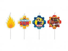 eng pl Mini Figurine Candles Fireman Sam 4 pcs 26134 2