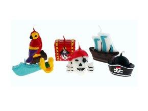 Sviečky Pirat party 6ks v balení
