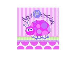 Servitky 1st Birthday party Lienka 16ks v balení