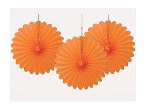 Rozetky visiace oranžové 3ks v balení, 15,2cm