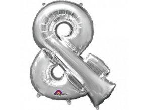 Fóliový balón Znak & strieborný 40cm