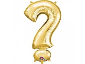 Fóliový balón znak ? Gold 27x40cm