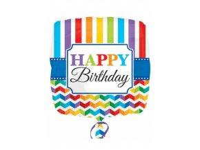 Fóliový balón Happy Birthday 43cm