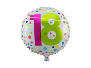 eng pl Happy Birthday 18 Orbz Foil Balloon 45 cm 36240 1