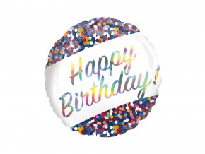 eng pl Standard Happy Birthday Foil Balloon 43 cm 45425 2