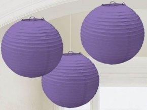Lampióny fialové 24cm 3ks