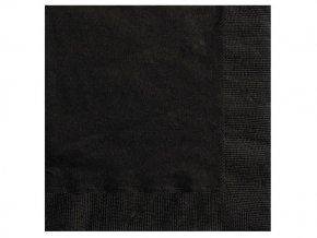 Servitky čierne 20ks v balení 33x33cm