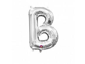 Fóliové písmeno B strieborné 22x33cm