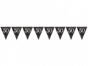 "Vlajková girlanda ""50"" Birthday"