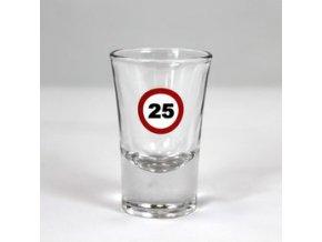 """Poldecák s číslom """"25"""""""