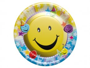 Tanier Smiley party 8ks v balení, 18cm