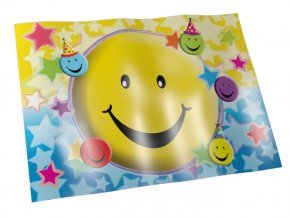 Obrus Smiley party plastový 120x180cm