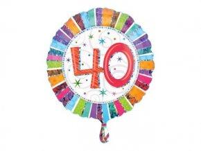"""Fóliový balón """"40"""" Happy BIrthday 47cm"""