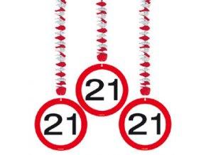 """Závesná dekorácia s číslom """"21"""""""